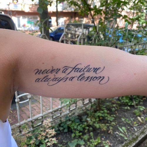 lettering arm